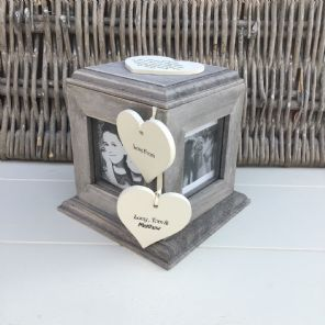 Shabby Chic PERSONALISED Rustic Wood Auntie Aunty Aunt Gift ANY NAME Photo Cube - 253969199004
